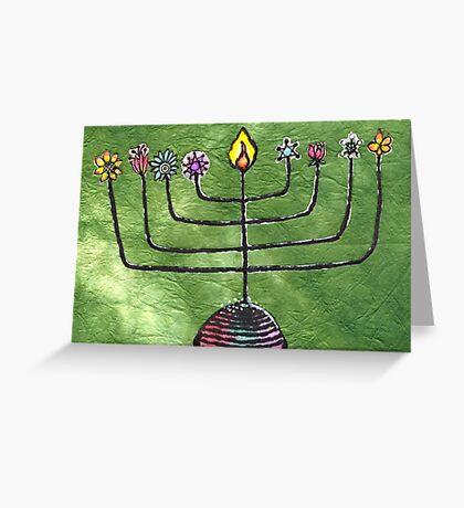 Chanukiah (Isaiah 35:1) Greeting Card