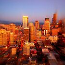 Seattle Skyline with a twist by Steve Falla