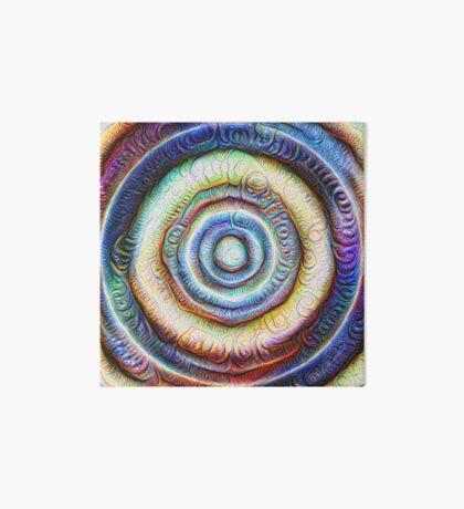 Ripples #Foamed #DeepDream Art Board Print