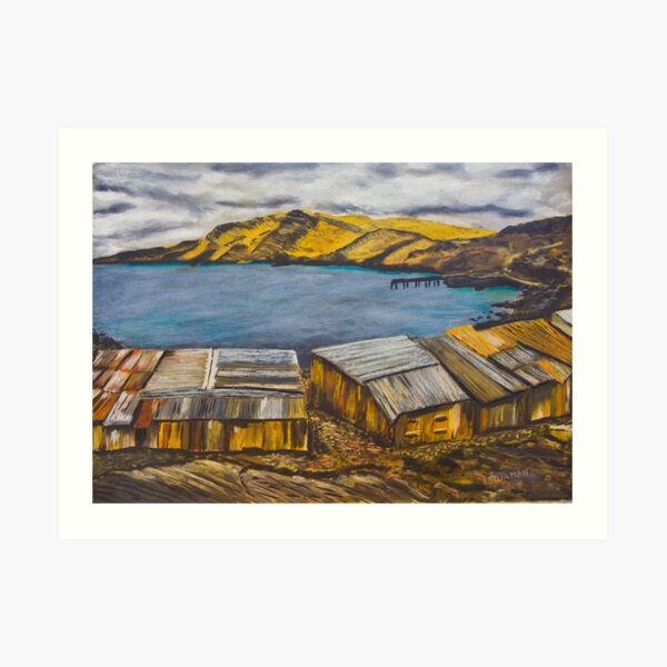 Second Valley Boat Sheds Art Print