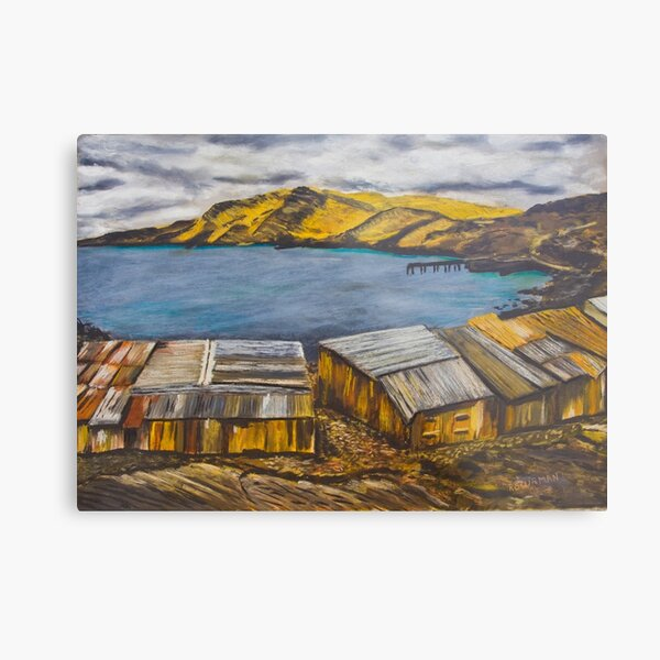 Second Valley Boat Sheds Metal Print