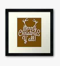 Merry Christmas Y'all Cute Southern Girl Gift  Framed Print