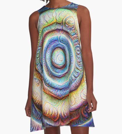Ripples #Foamed #DeepDream A-Line Dress