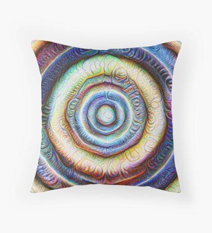 Ripples #Foamed #DeepDream Throw Pillow