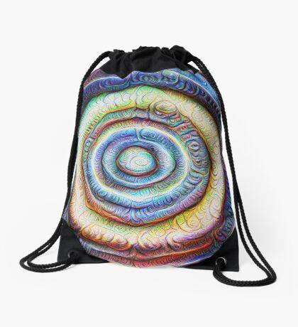 Ripples #Foamed #DeepDream Drawstring Bag
