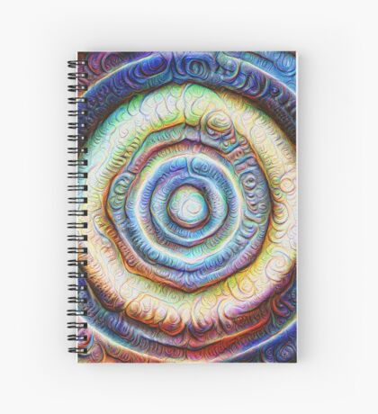 Ripples #Foamed #DeepDream Spiral Notebook