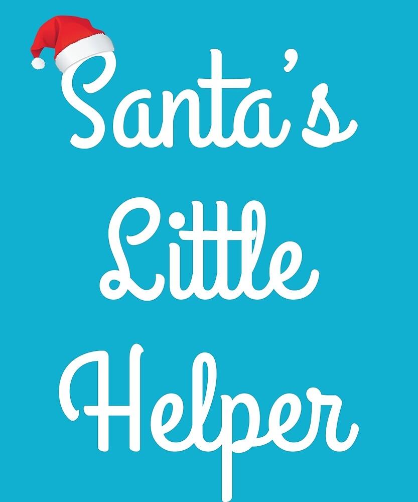 Santa's Little Helper Cute Santa Hat Presents Elf  by AlwaysAwesome
