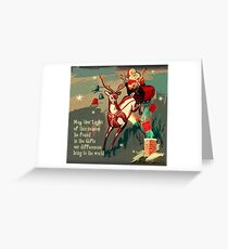 Diversity/Safety Affirming Holiday Design Greeting Card