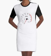 NISSAN スカイライン (NISSAN Skyline) R32 NISMO rev counter T-Shirt Kleid
