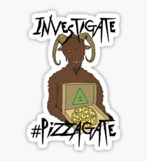 Investigate Pizzagate T-Shirt Sticker