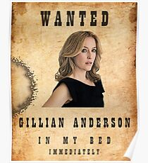 Wanted: Gillian Anderson Poster