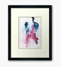 Blue and pink abstract  Framed Print
