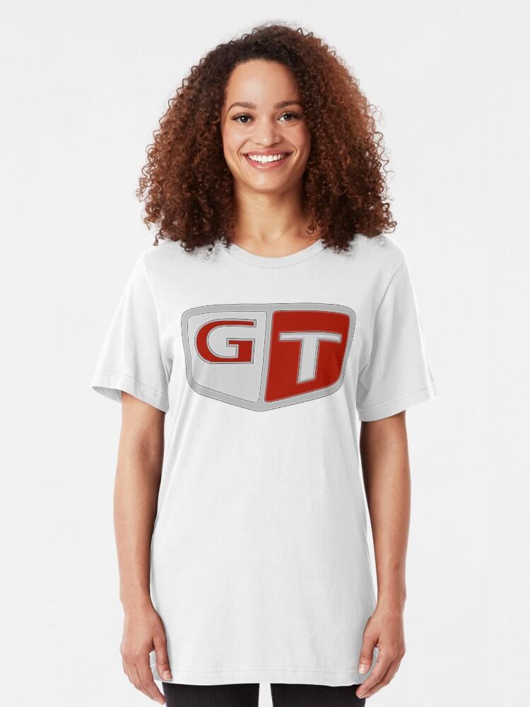 Alternative Ansicht von NISSAN スカイライン (NISSAN Skyline) GT Logo Slim Fit T-Shirt