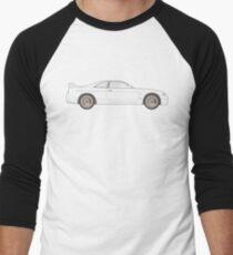 Nissan Skyline R33 GT-R (side) Baseballshirt für Männer