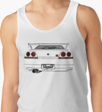 Nissan Skyline R33 GT-R (back) Tank Top