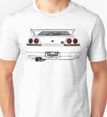 Nissan Skyline R33 GT-R (back) Unisex T-Shirt
