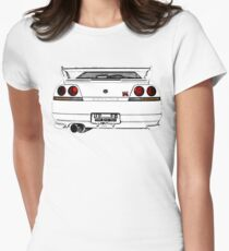 Nissan Skyline R33 GT-R (back) Women's Fitted T-Shirt