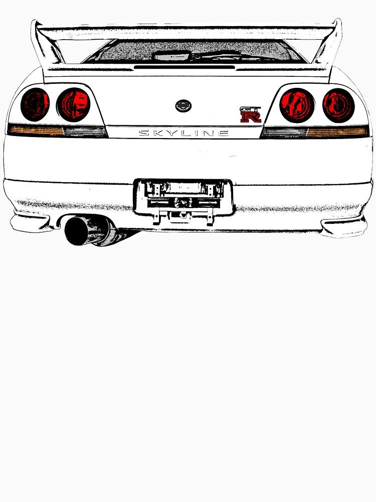 Nissan Skyline R33 GT-R (back) von officialgtrch