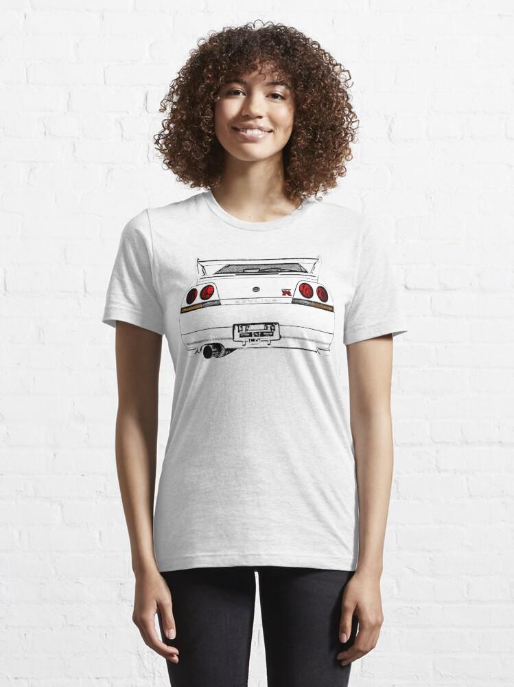 Alternative Ansicht von Nissan Skyline R33 GT-R (back) Essential T-Shirt