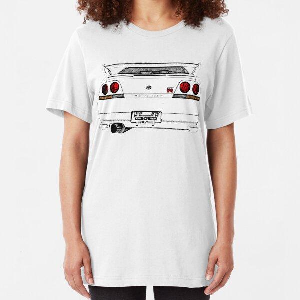 Nissan Skyline R33 GT-R (back) Slim Fit T-Shirt
