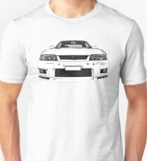 Nissan Skyline R33 GT-R (front) Slim Fit T-Shirt