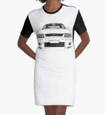 Nissan Skyline R33 GT-R (front) Graphic T-Shirt Dress