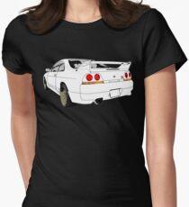 Nissan Skyline R33 GT-R (semi back) Tailliertes T-Shirt für Frauen