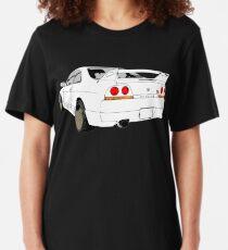 Nissan Skyline R33 GT-R (semi back) Slim Fit T-Shirt