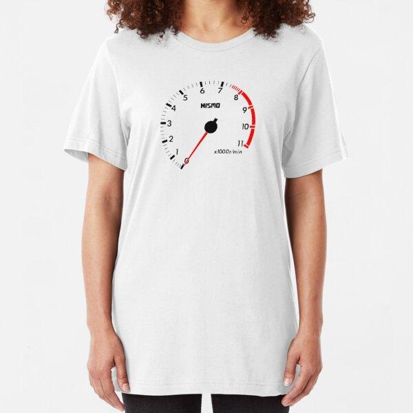 NISSAN スカイライン (NISSAN Skyline) R32 NISMO rev counter [alternative version] Slim Fit T-Shirt
