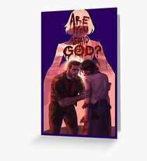 are you afraid of god? Greeting Card