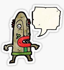 cartoon cannibal tribesman Sticker