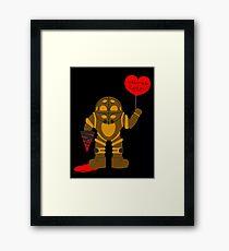 Bigdaddy welcome to rapture Bioshock Framed Print