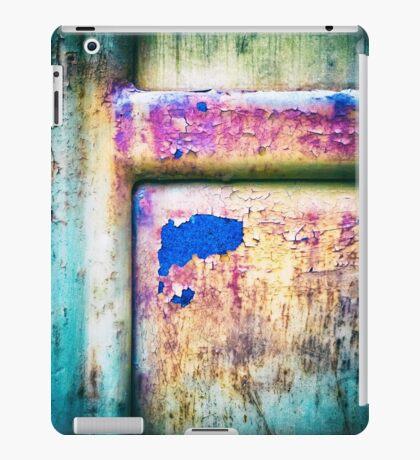 Blue in rusty door iPad Case/Skin