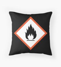 extremely flammable Throw Pillow