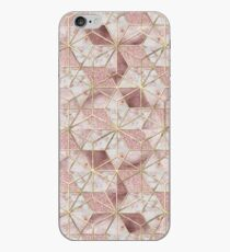 Modern rose gold geometric star flower pattern  iPhone Case
