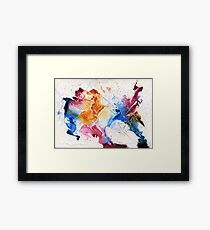 Pink, blue and orange abstract Framed Print