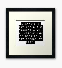 A Cookie A Day Framed Print