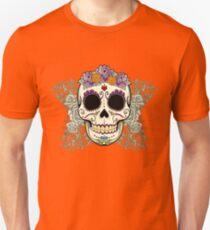 Vintage Skull and Flowers Unisex T-Shirt