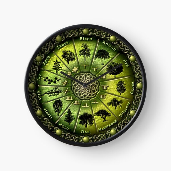 Druid tree calendar clock Clock