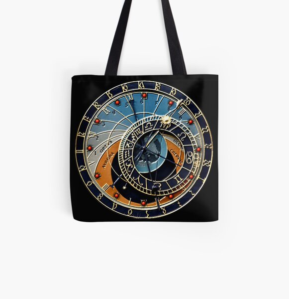 Astronomical clock All Over Print Tote Bag