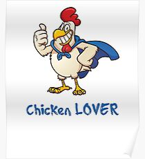 Rooster Chicken Lover, funny adult humor. Poster