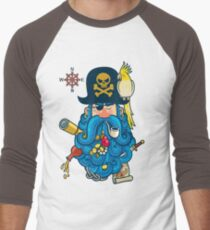 Pirate Portrait Men's Baseball ¾ T-Shirt