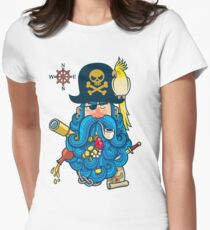 Pirate Portrait Womens Fitted T-Shirt