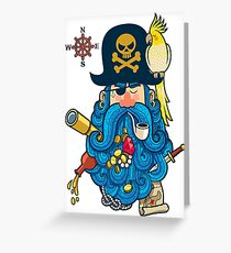 Pirate Portrait Greeting Card