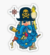 Pirate Portrait Sticker