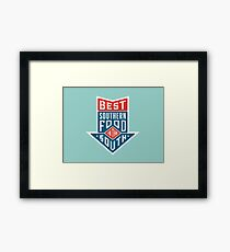 Best food in the south - logo Framed Print