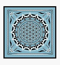 SACRED GEOMETRY - FLOWER OF LIFE - SPIRITUALITY Photographic Print