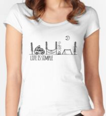 Simple Life Women's Fitted Scoop T-Shirt