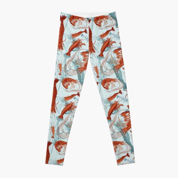 Shrimp - Orange and Turquoise Leggings