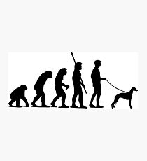Evolution of man Photographic Print